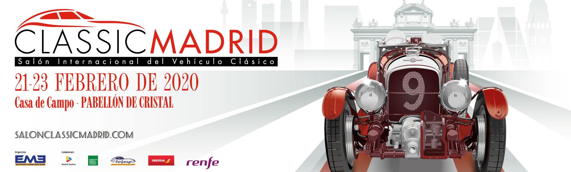 cartel classicauto, coches clasicos madrid, antiguo retromovil