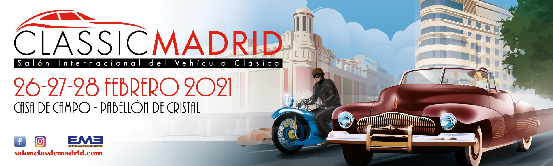 cartel classicauto, coches clasicos madrid, antiguo retromovil